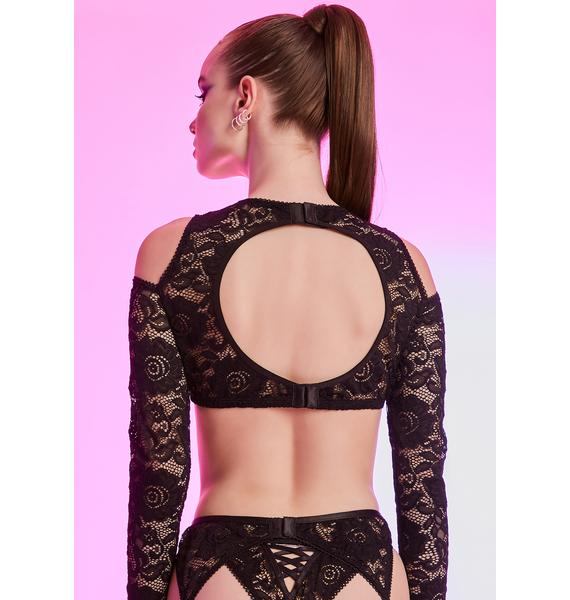 HOROSCOPEZ Secret Life Lace Long Sleeve Bra
