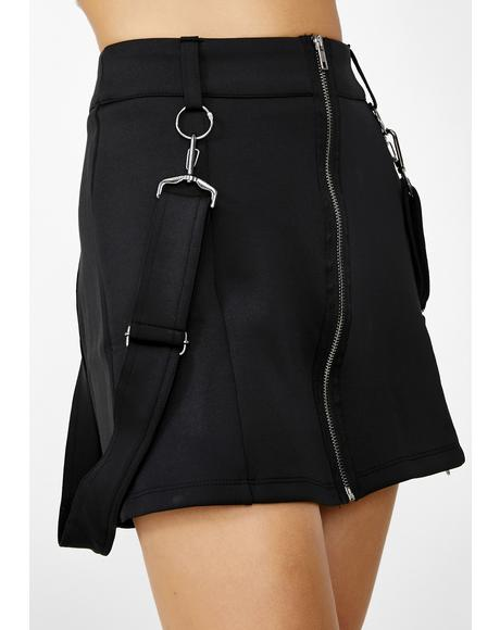 Suspended From Skool Mini Skirt