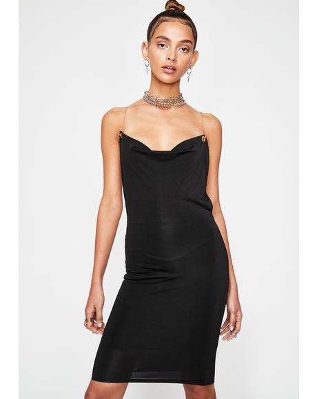 Chain Smokin' Backless Mini Dress