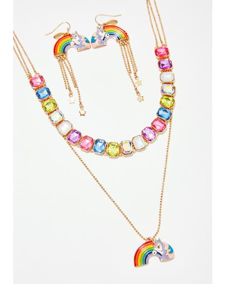 Unicorn Dreaming Jewelry Set