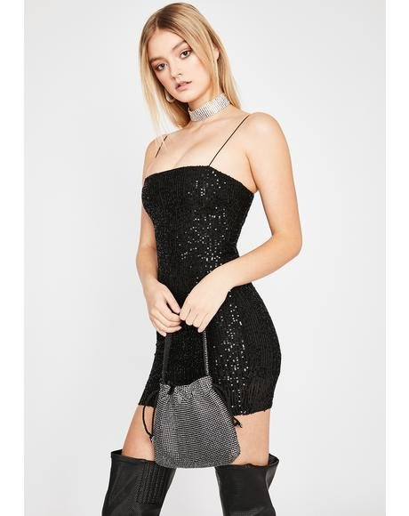 Noir Glitz N' Glam Mini Dress