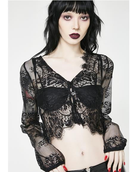 Here For Trouble Lace Top