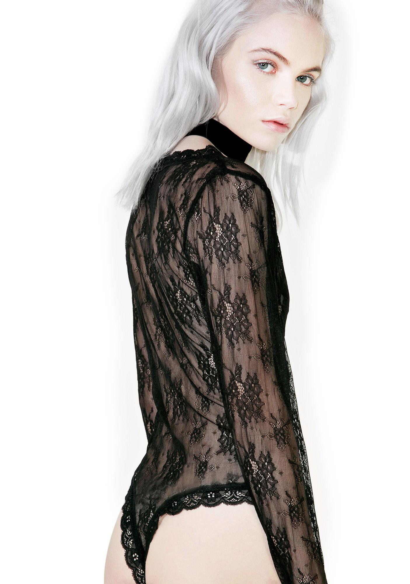 Glamorous Mille-Feuille Lace Bodysuit