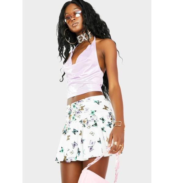 Spread Ur Wings Pleated Skirt