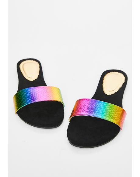 Funk Electro Diamond Iridescent Slides