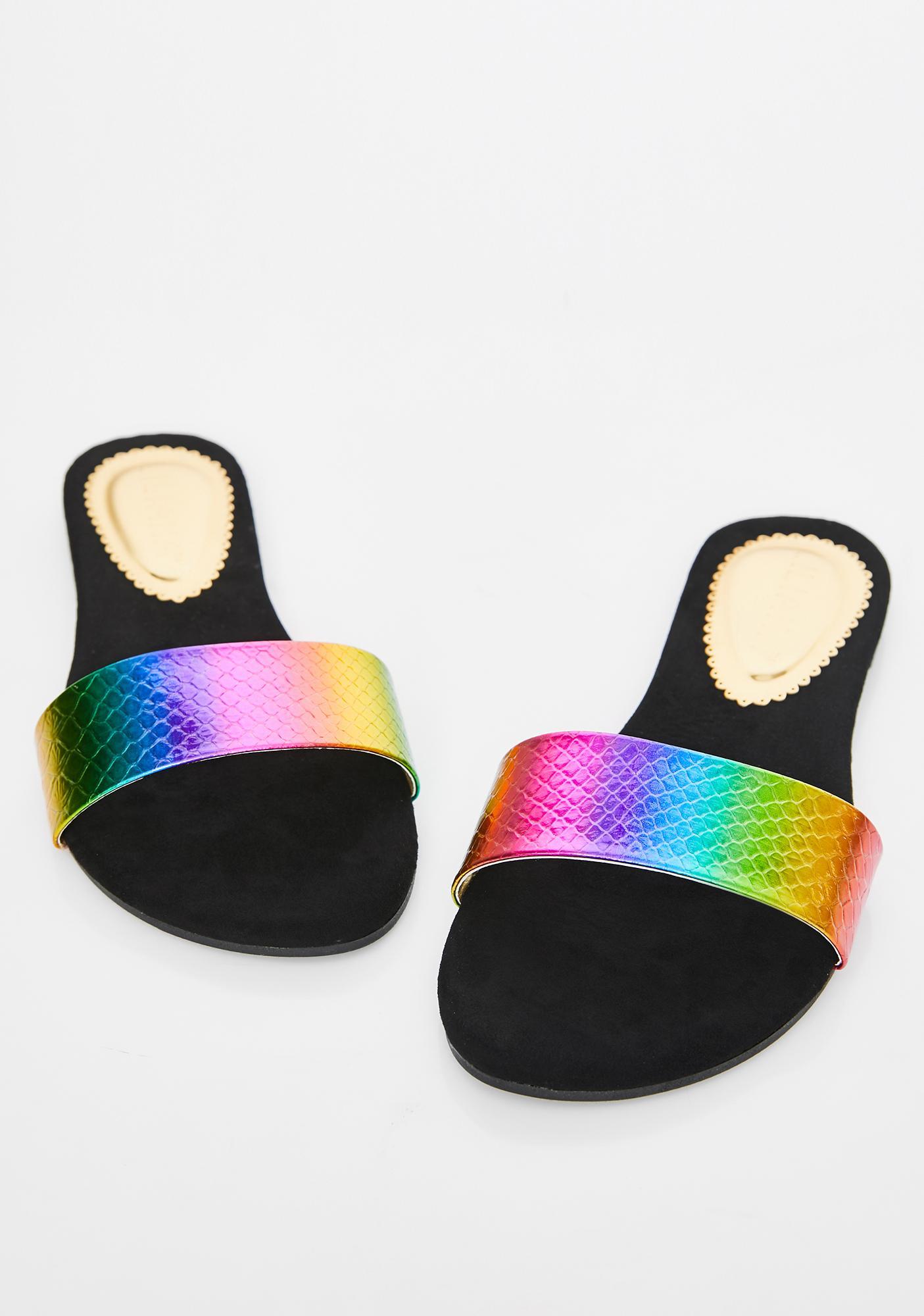 Funk Electro Diamond Iridescent Slides