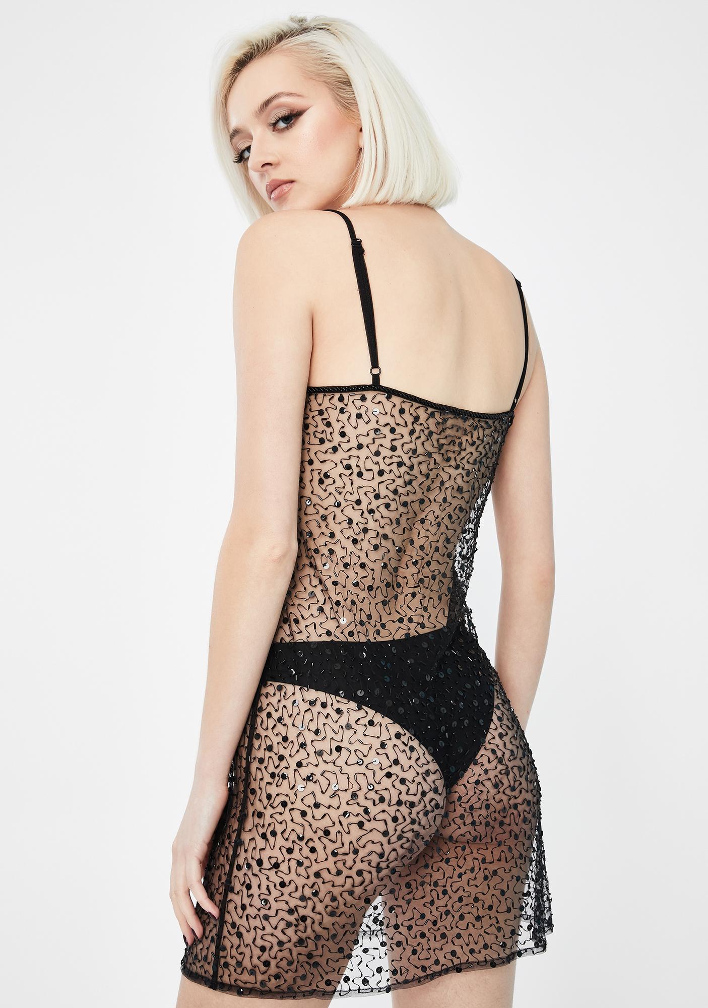 Dyspnea Patriassy Sheer Slip Dress