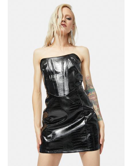 Stand Still Strapless Mini Dress