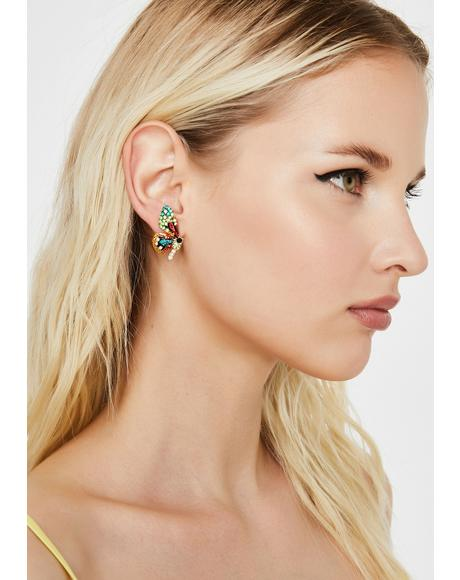 Fly Away With Me Butterfly Earrings