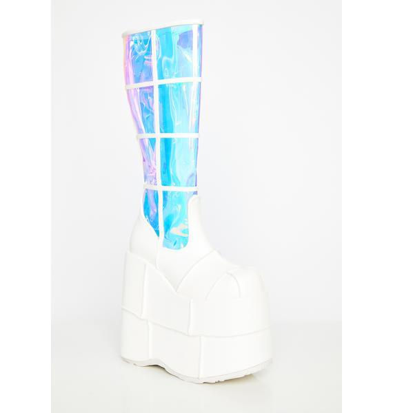 Demonia See Right Thru U Platform Boots