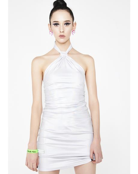 On The Guestlist Halter Dress