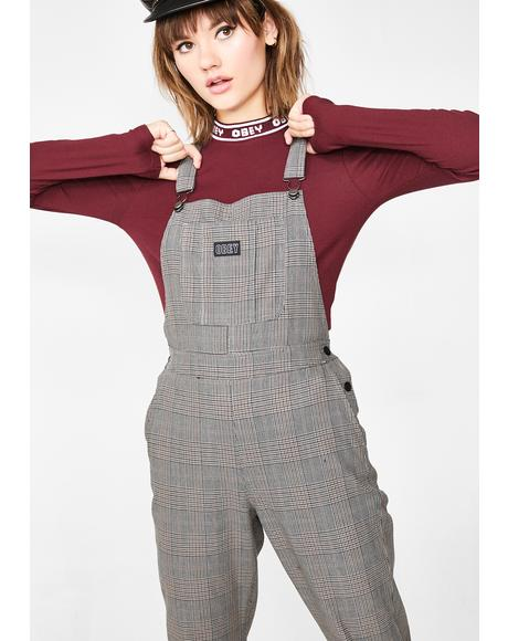 Ollie Plaid Overalls