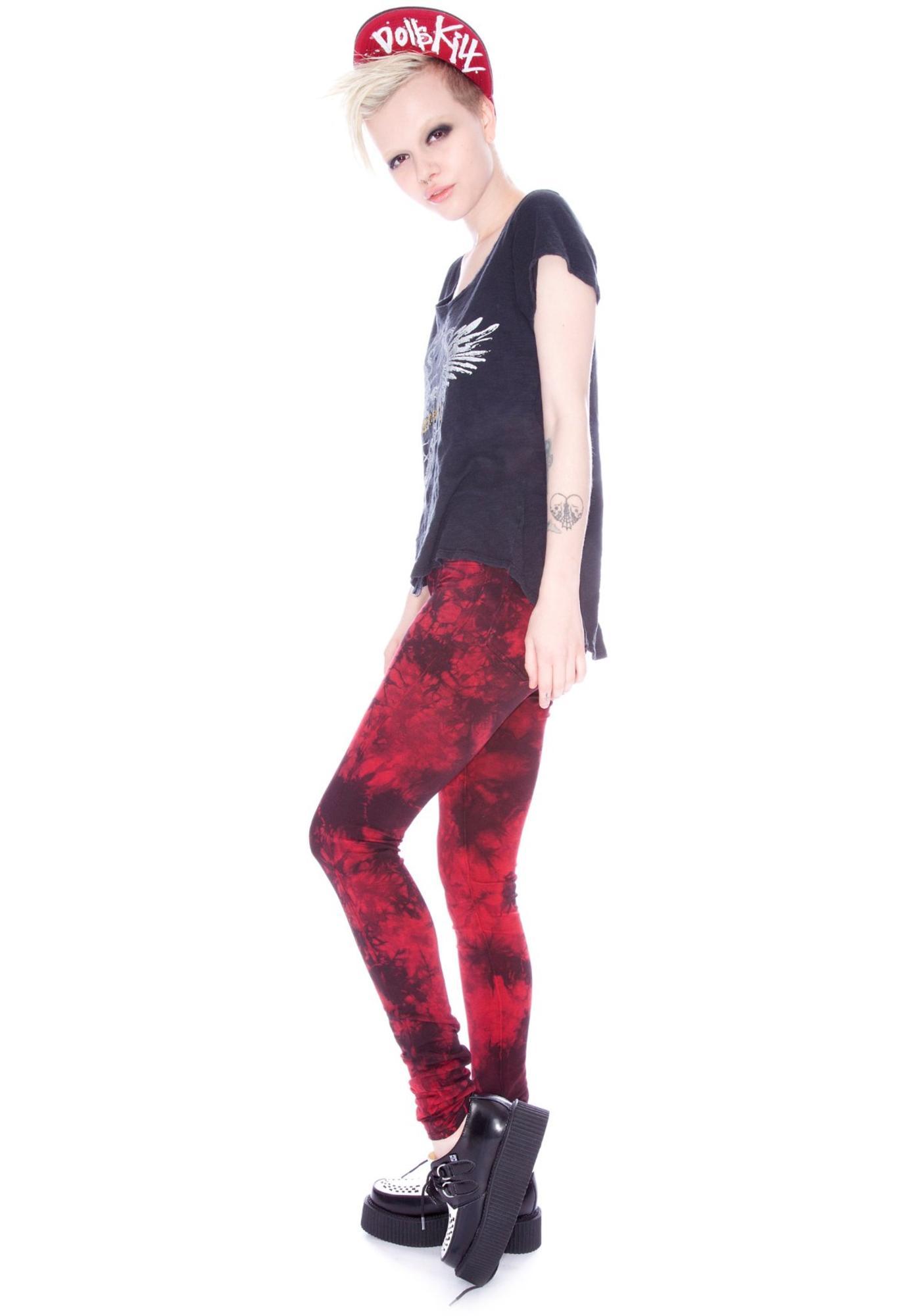 Revolt Knit Cherry Bomb Skinny Jeans