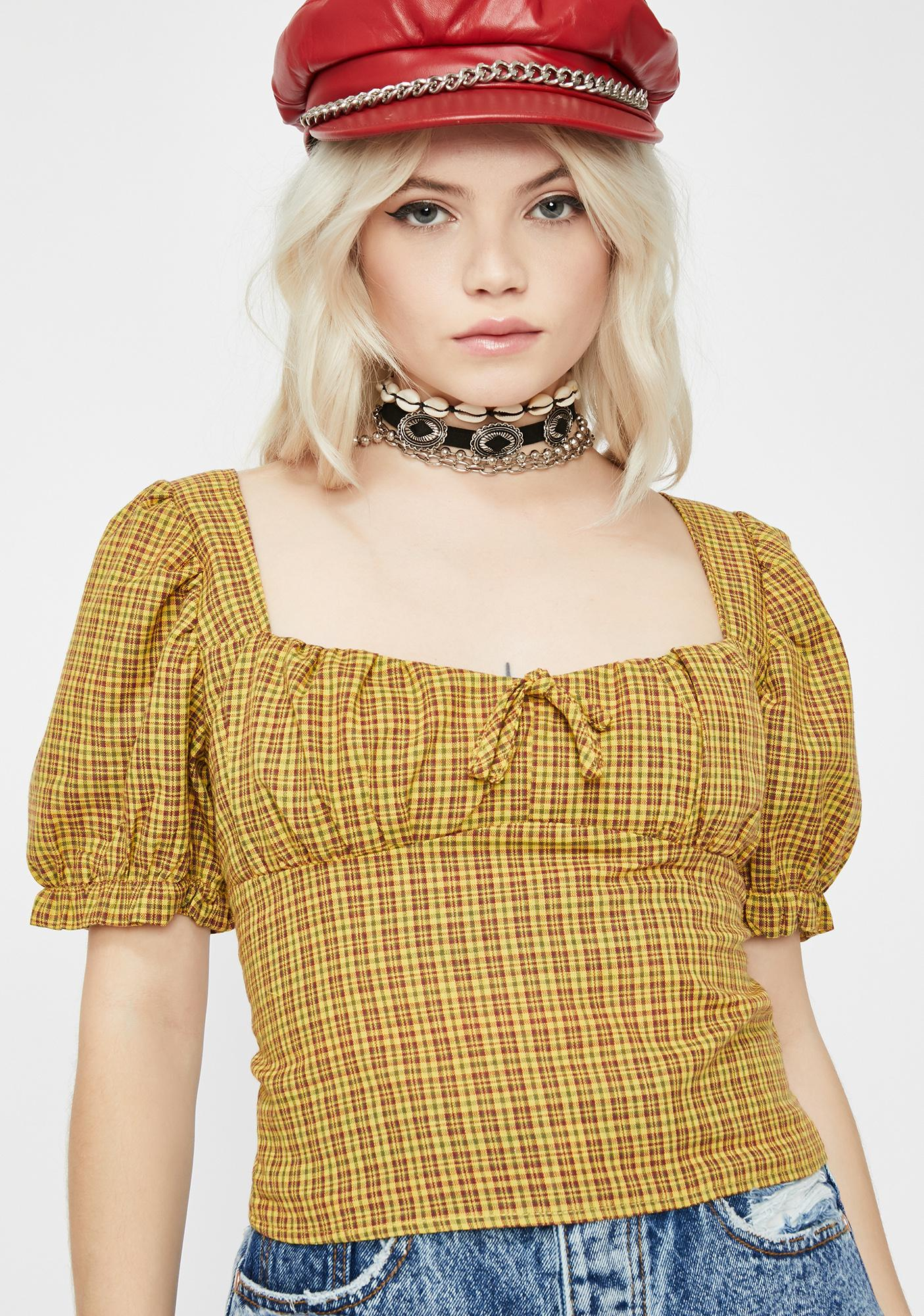 Honey Simple Lyfe Plaid Top