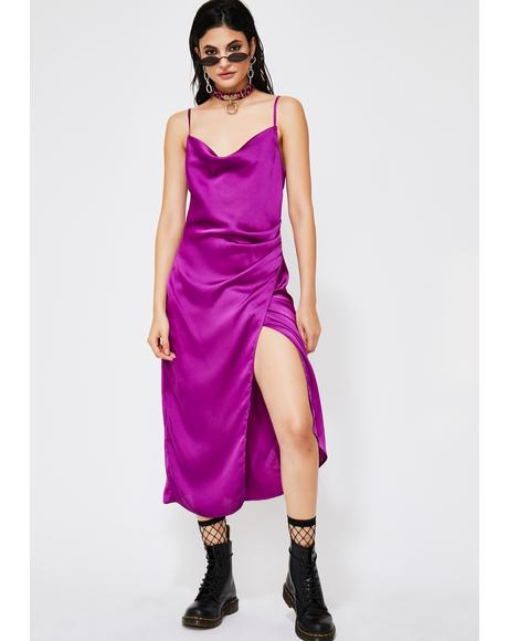 Ultra Violet Rays Slip Dress
