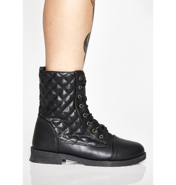 Slightest Temptation Combat Boots