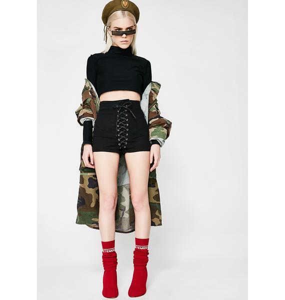 Tripp NYC High Waist Corset Shorts