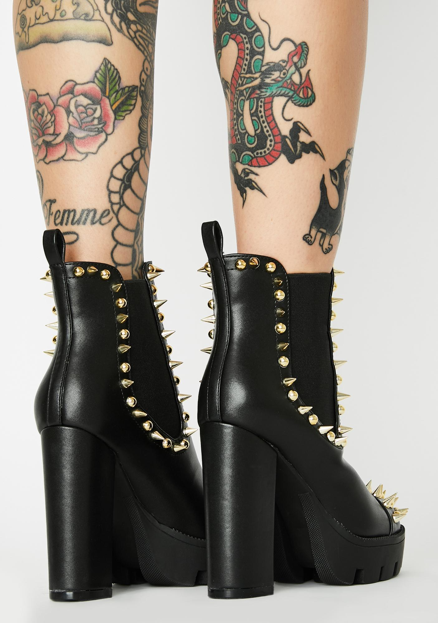 Royal Hellraisin' Hottie Spiked Booties