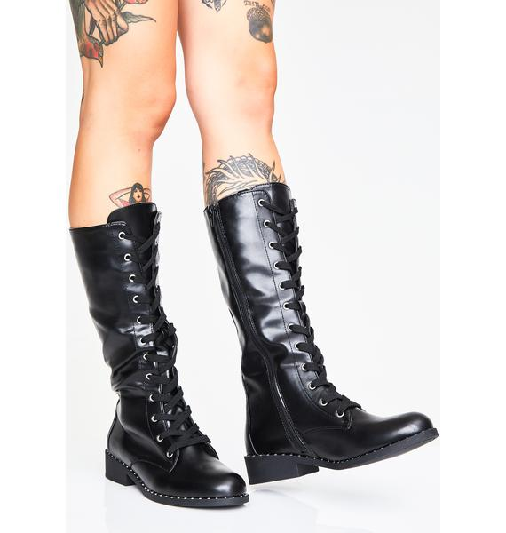 Mean Business Combat Boots