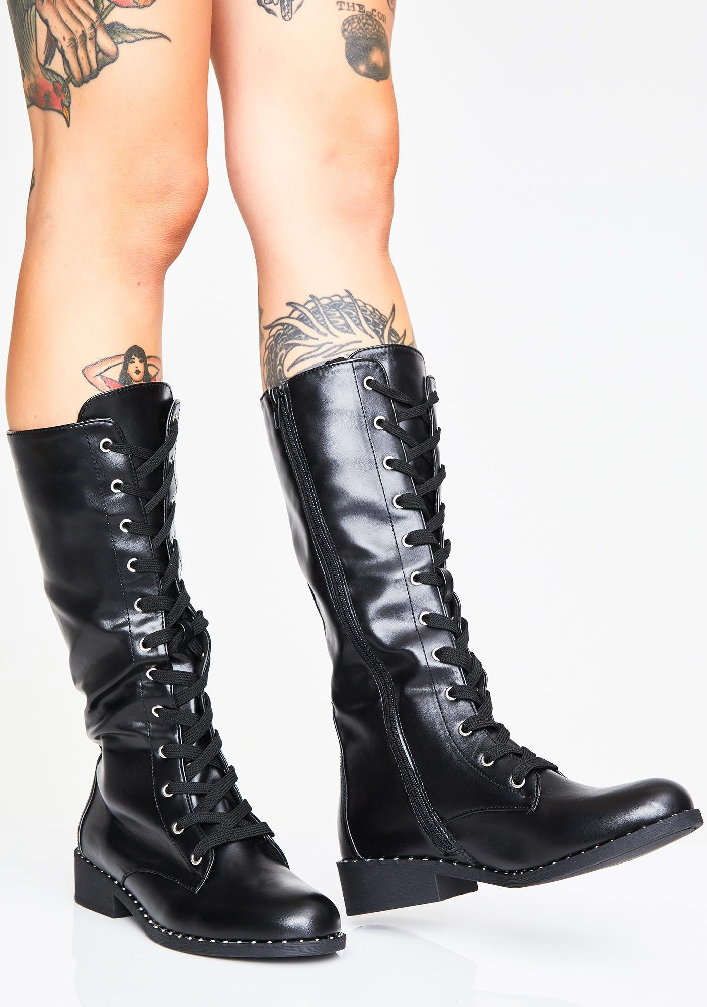 c0231d87b8999d Vegan High Combat Boots | Dolls Kill