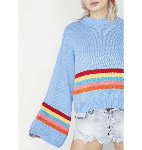 Glamorous Daze Off Striped Sweater