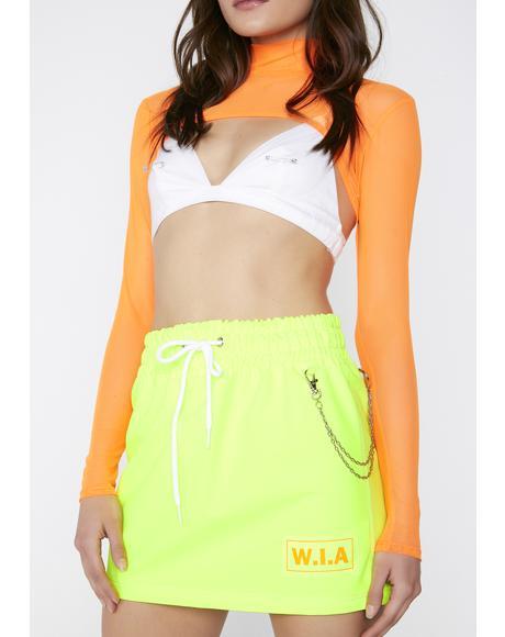 Ray Neon Skirt