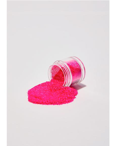 Electric Fuschia Shock Glow Glitter