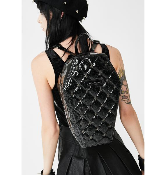 Rock Rebel Lucy Quilted Coffin Backpack