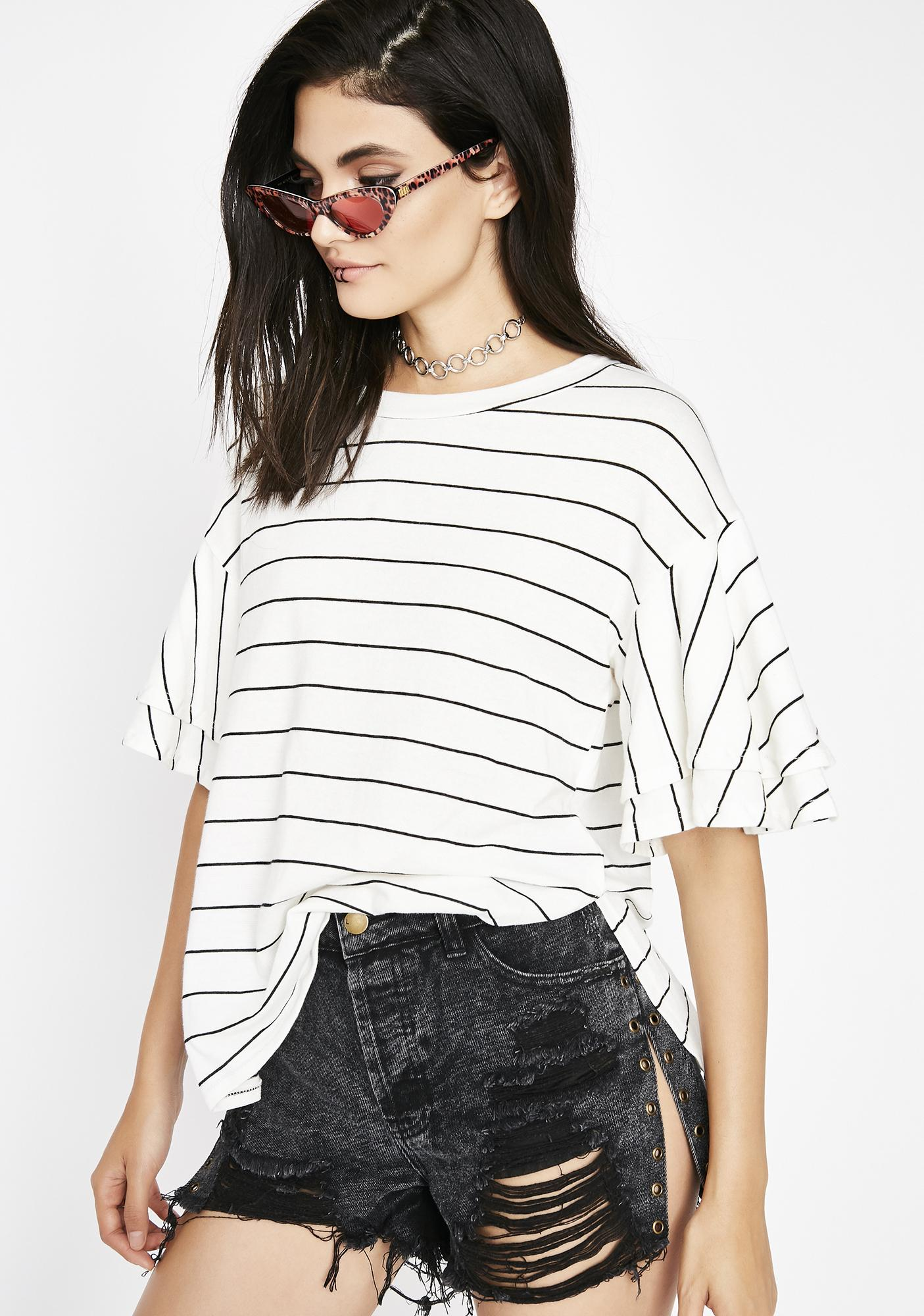 Anything But Basic Striped Tee