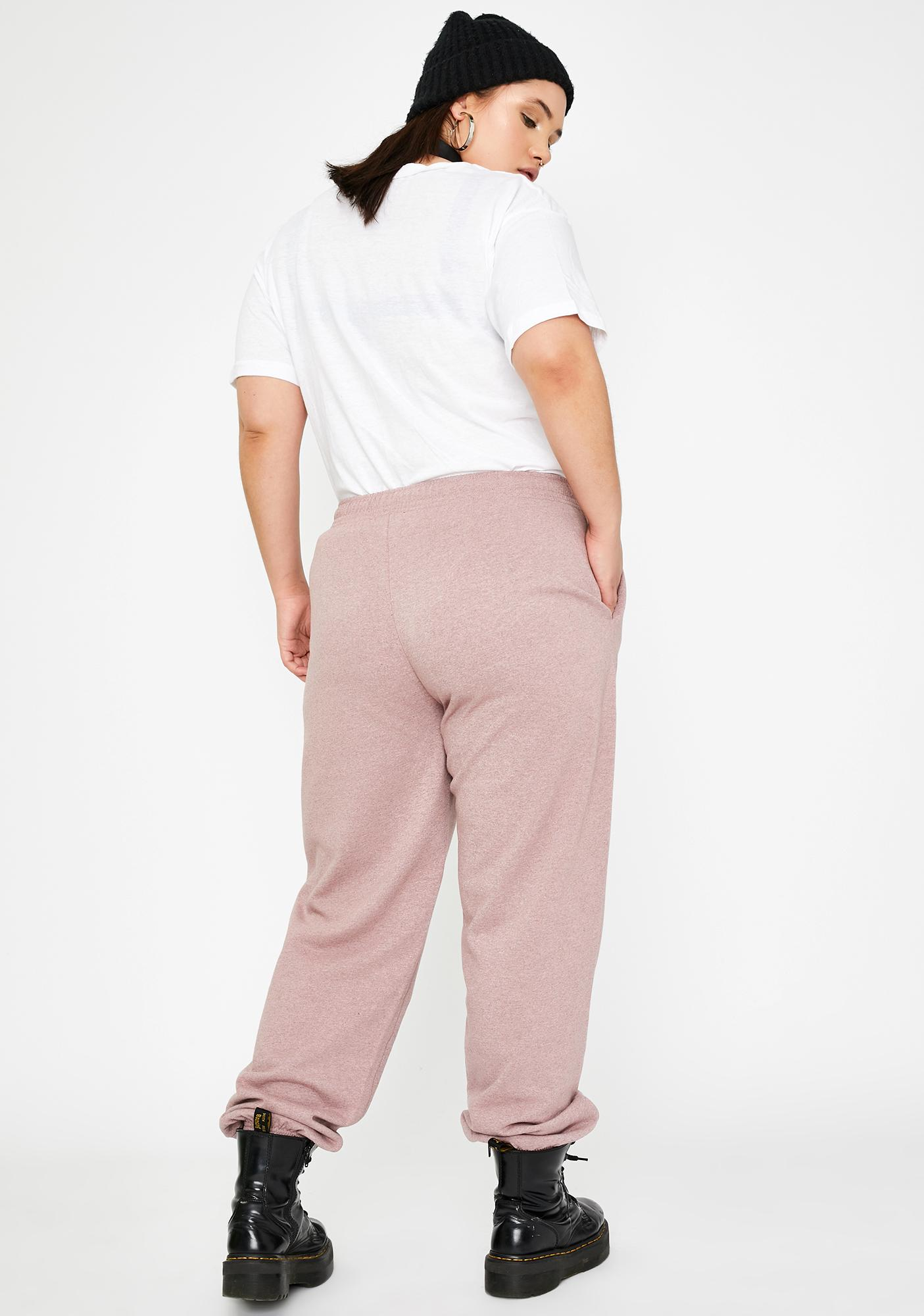 NEW GIRL ORDER Curve Glitter Rose Joggers