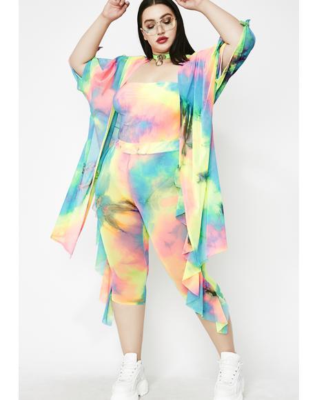 Luv Drug Tie Dye Kimono