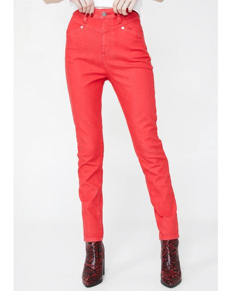 x Georgia May Jagger High Rise Jeans