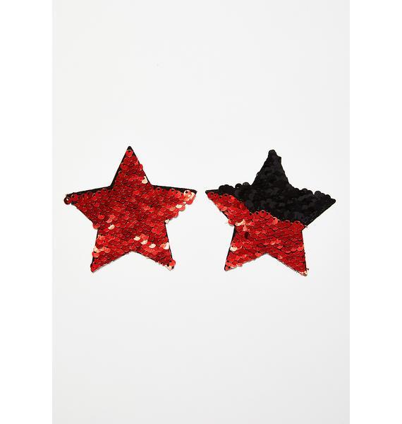 Neva Nude Sequin Star Pasties