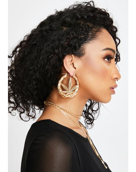 Boujee Bud Hoop Earrings