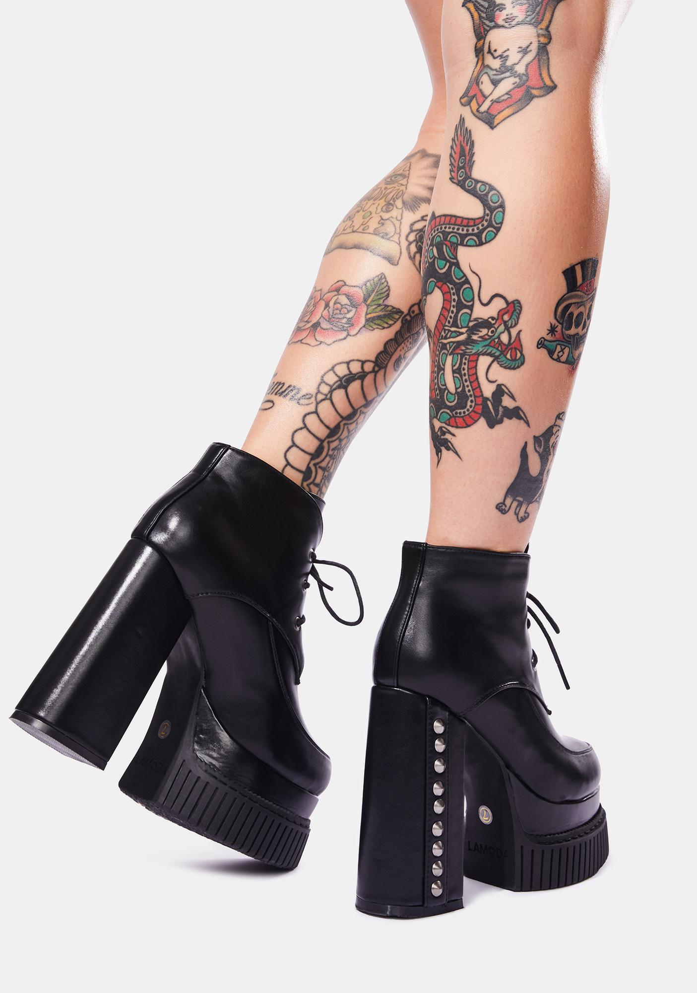 Lamoda Smile And Wave Platform Boots