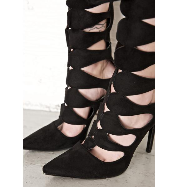 Imprisoned Cut-Out Boots
