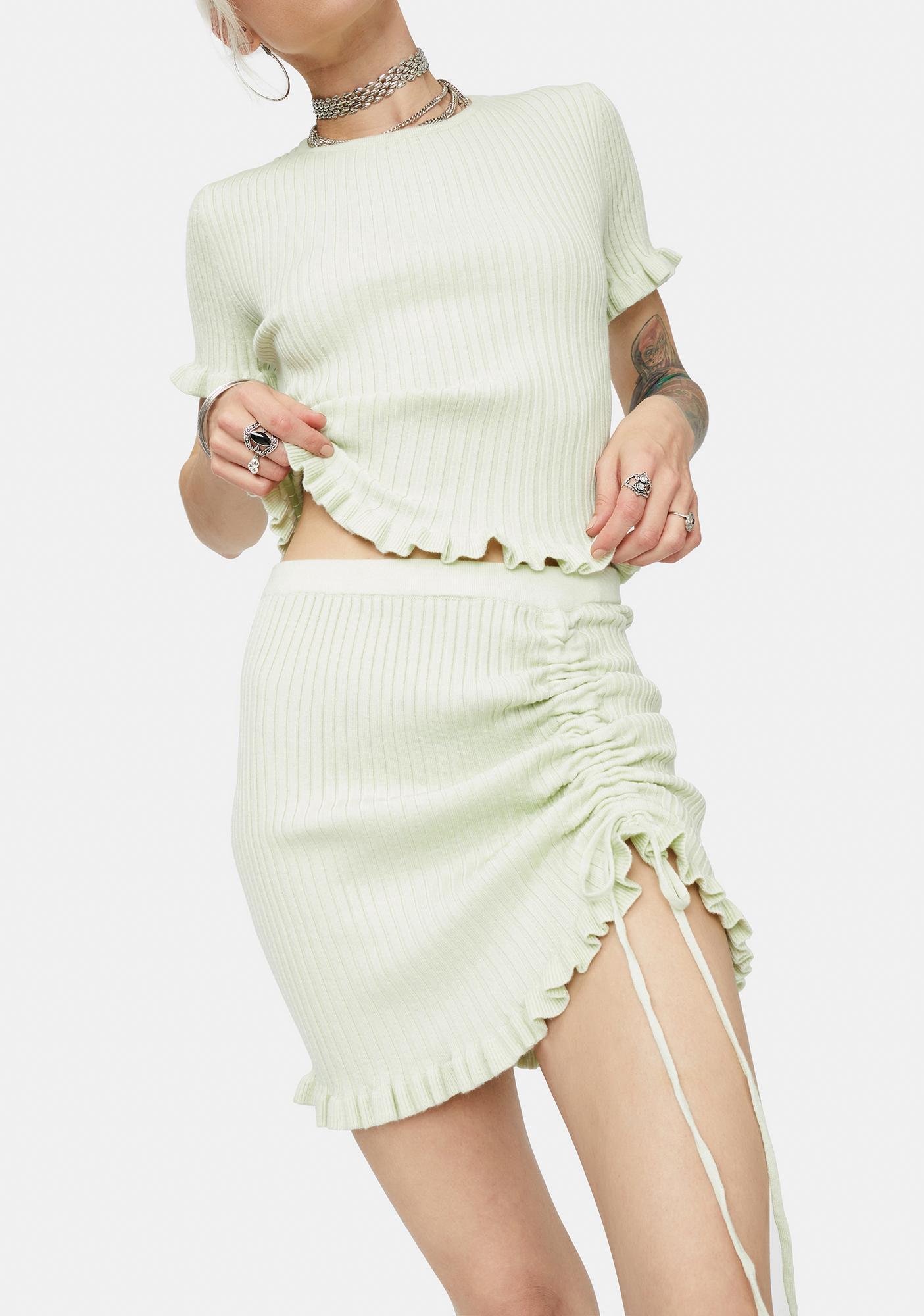 Owe Me Nothing Ribbed Mini Skirt