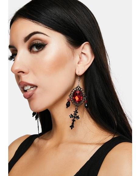 Bloodlust Fantasy Gem Earrings