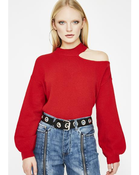 Babe Aesthetic Cut Out Sweater