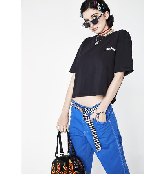 Dickies Girl Spiral Checkered Tee