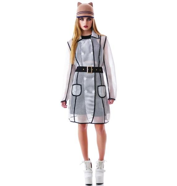 Hook Shot Mesh Trench Coat