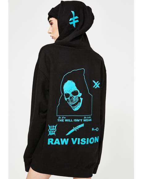 Teal Raw Vision Hoodie