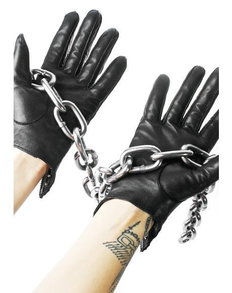 Studded Key Hole Gloves