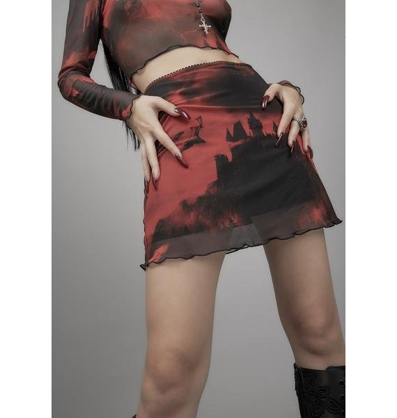 Widow House Of Horrors Mesh Mini Skirt