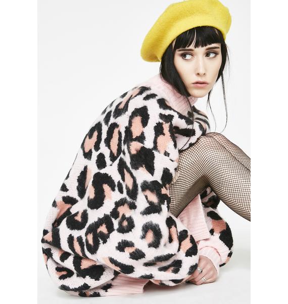 Little Sunny Bite LSB Original Leopard Bomber Knit Dress