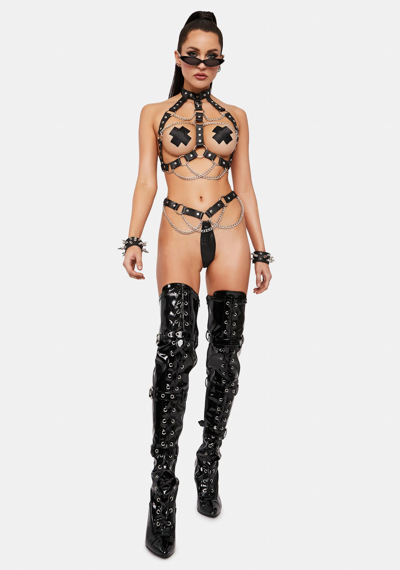 Can't Control Me Leather Set