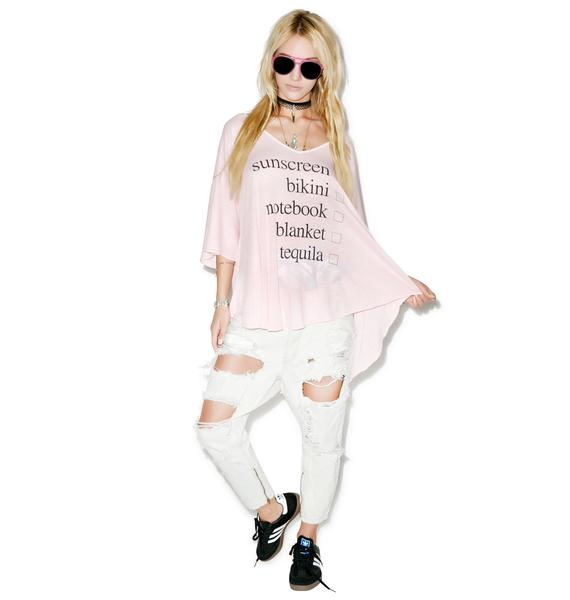 Wildfox Couture Weekend Trip Tahiti Tunic