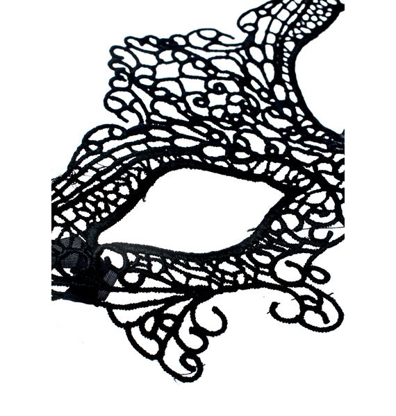 Phantom Lace Masquerade Mask