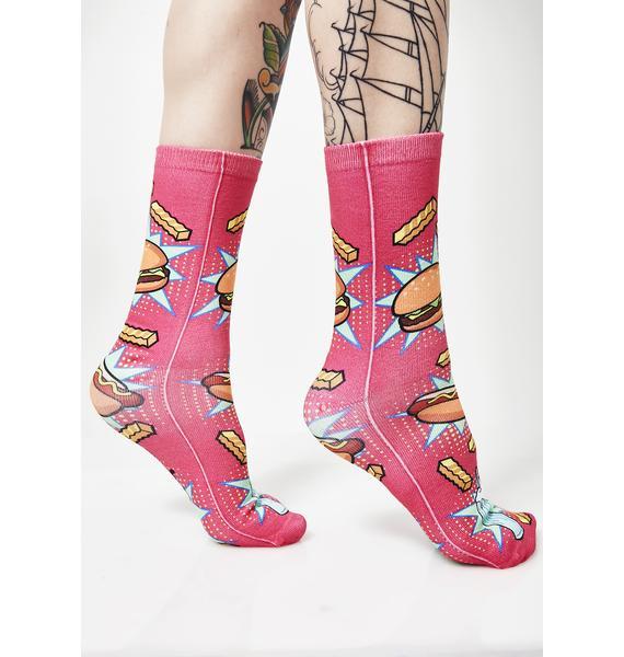 Munchiez Please Crew Socks