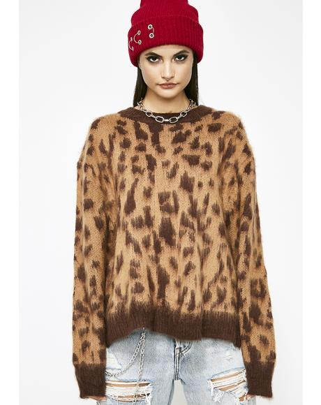 No Mercy Leopard Sweater